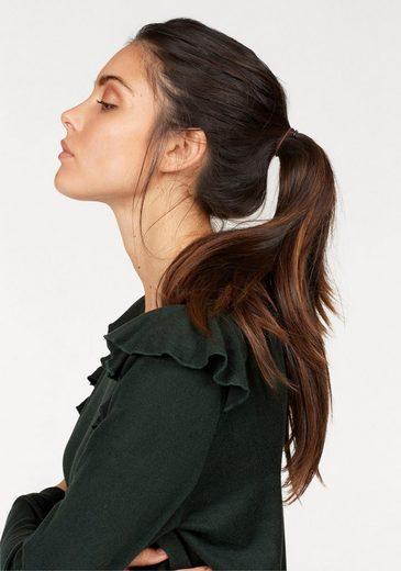 Ichi Strickpullover Linea, mit trendy Rüsche