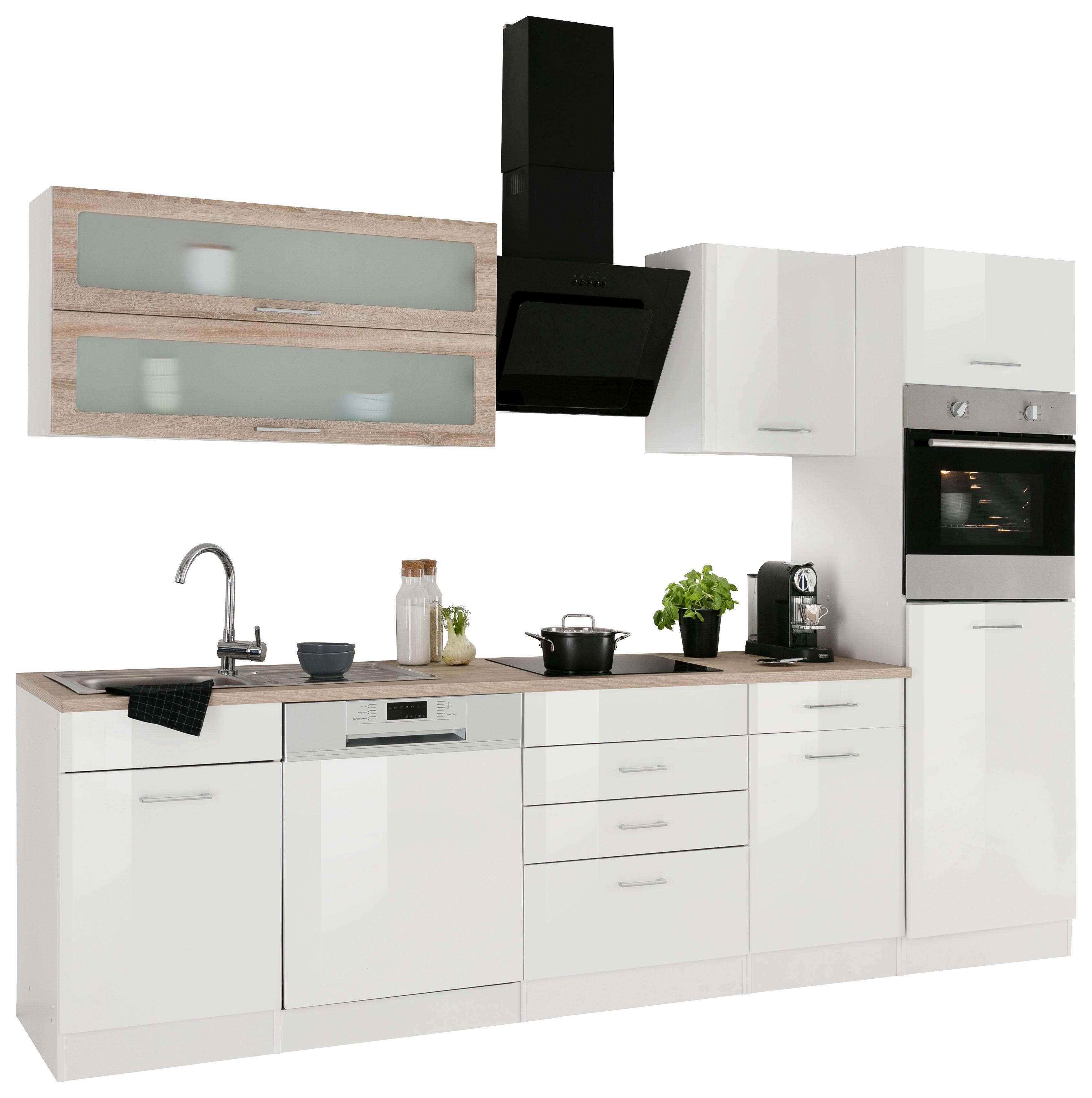 blau-hochglanz Küchenzeilen online kaufen | Möbel-Suchmaschine ...