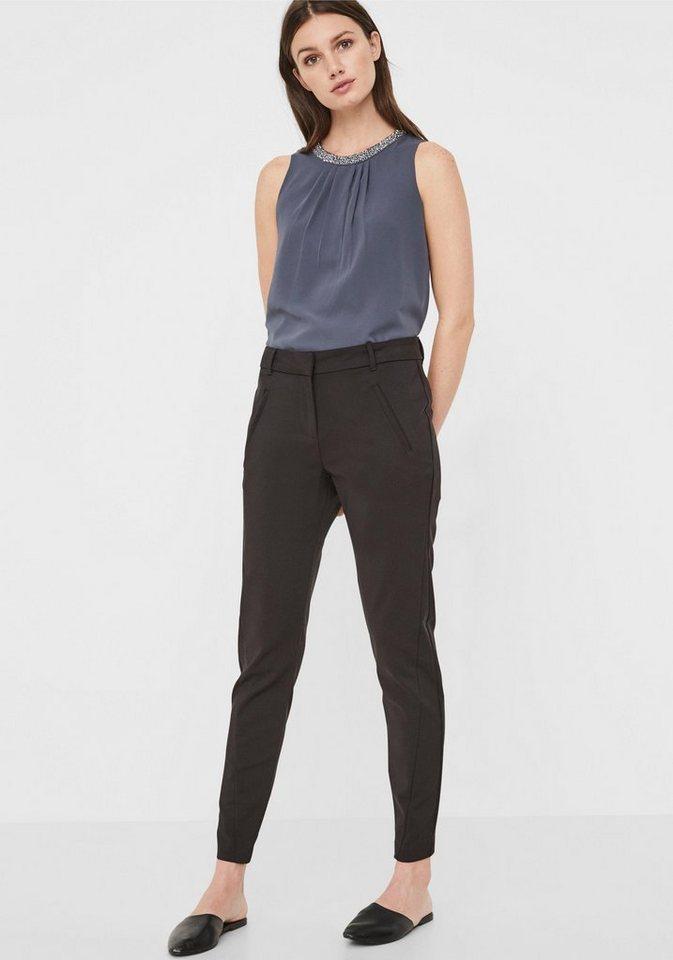 Vero Moda Anzughose »VMVICTORIA ANTIFIT« | Bekleidung > Hosen > Anzughosen | Schwarz | Leder | Vero Moda