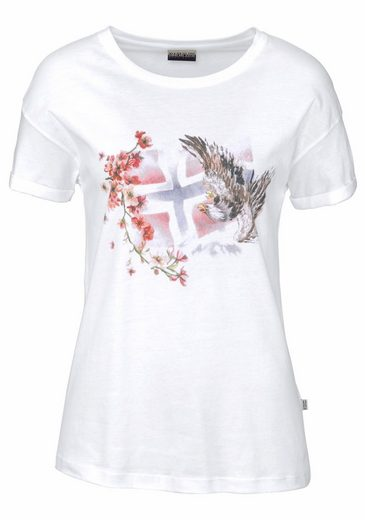 Napapijri T-Shirt Sebhi, mit tollem Frontprint