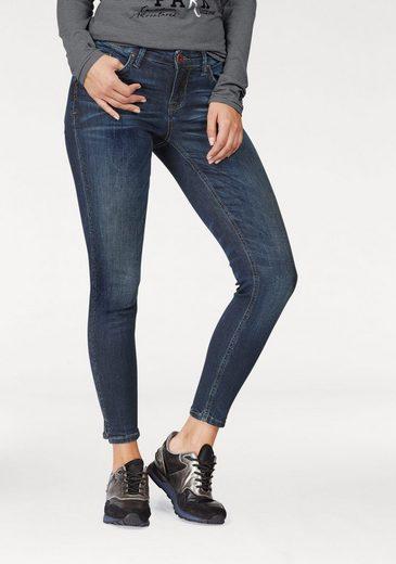 SOCCX Stretch-Jeans Miranda, mit tollen Glitzerdetails an den Seitennähten