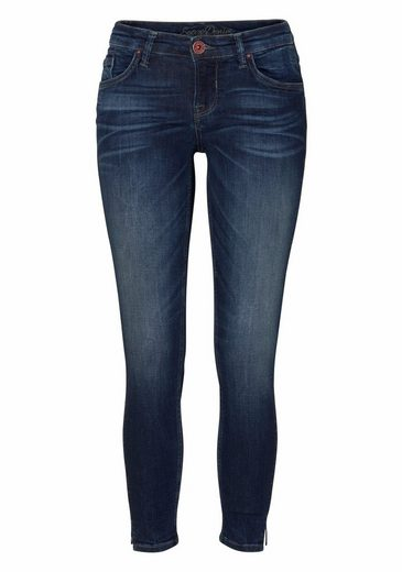 Soccx Stretch Jeans Miranda, Side Seams With Great Glitter Details On The