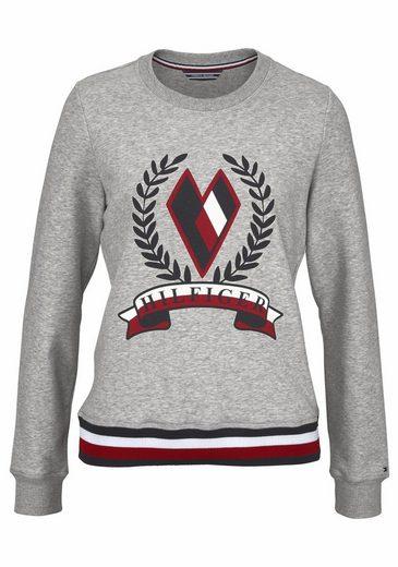 Hilfiger Sweatshirt Tate Heart, With Flashy Front Print