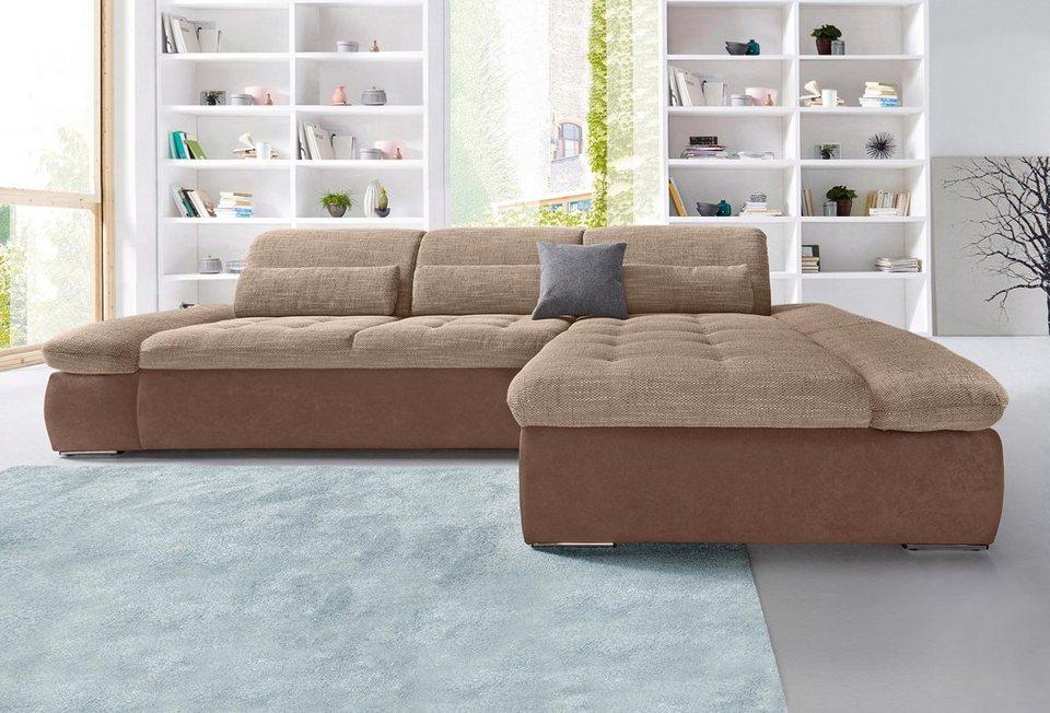 ecksofa mit recamiere wahlweise mit bettfunktion frei. Black Bedroom Furniture Sets. Home Design Ideas