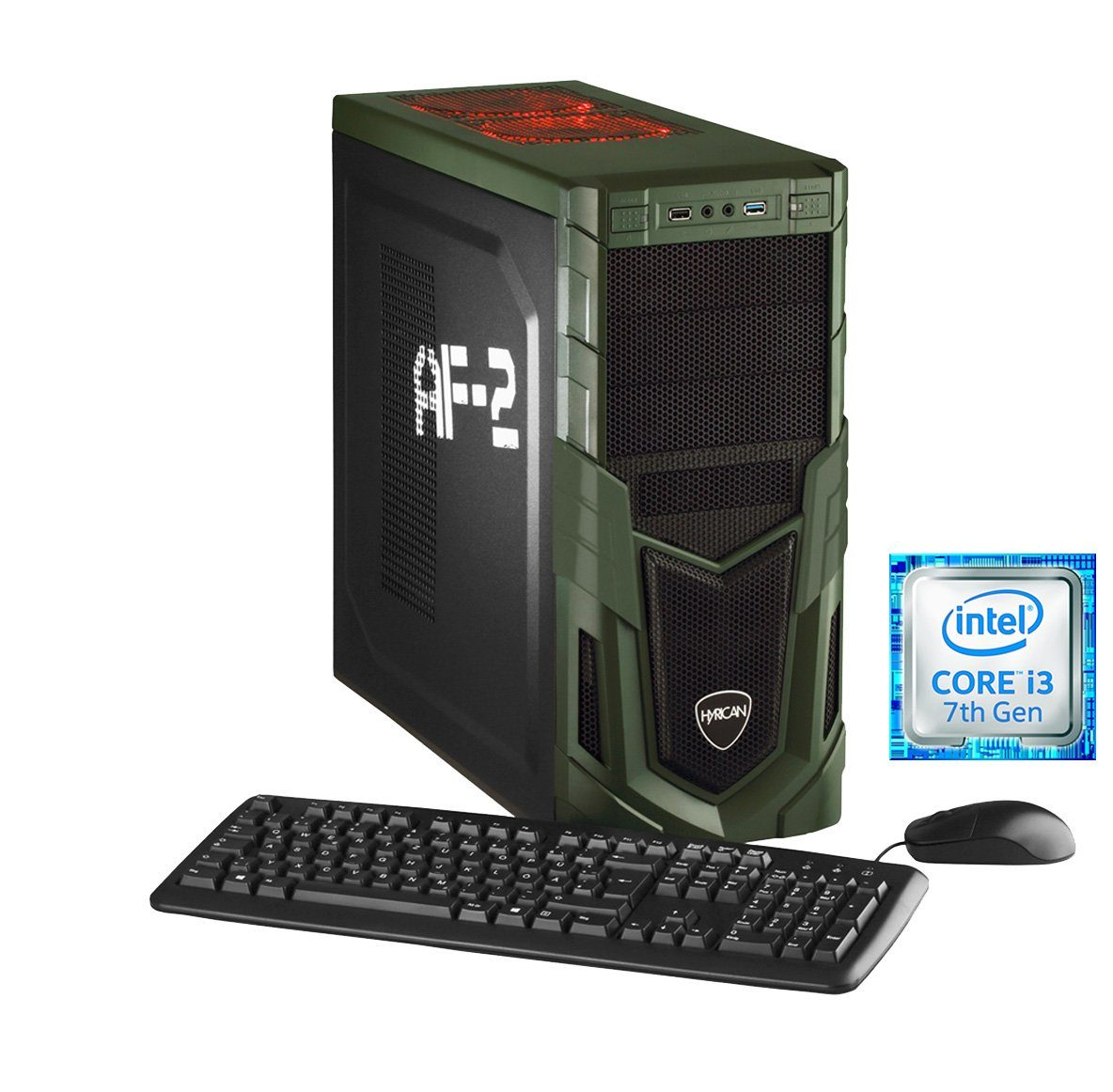 Hyrican Gaming PC Intel® i3-7100 8GB 16GB Optane™ 1TB GeForce® GTX 1050 »Military Gaming 5601«