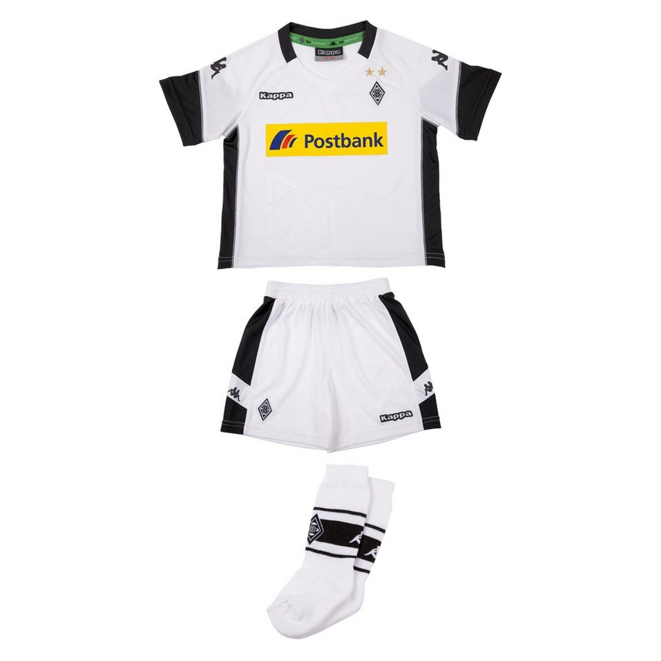 kappa trikot set borussia m nchengladbach mini trikot set 17 18 online kaufen otto. Black Bedroom Furniture Sets. Home Design Ideas