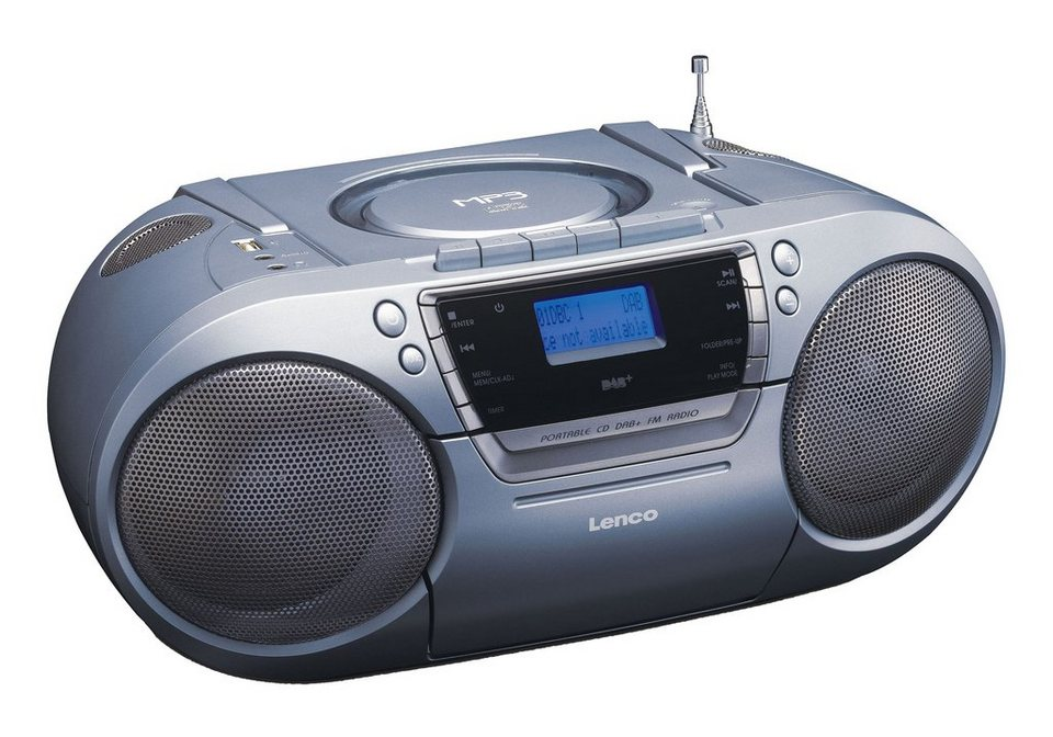 lenco tragbares fm dab radio mit cd mp3. Black Bedroom Furniture Sets. Home Design Ideas