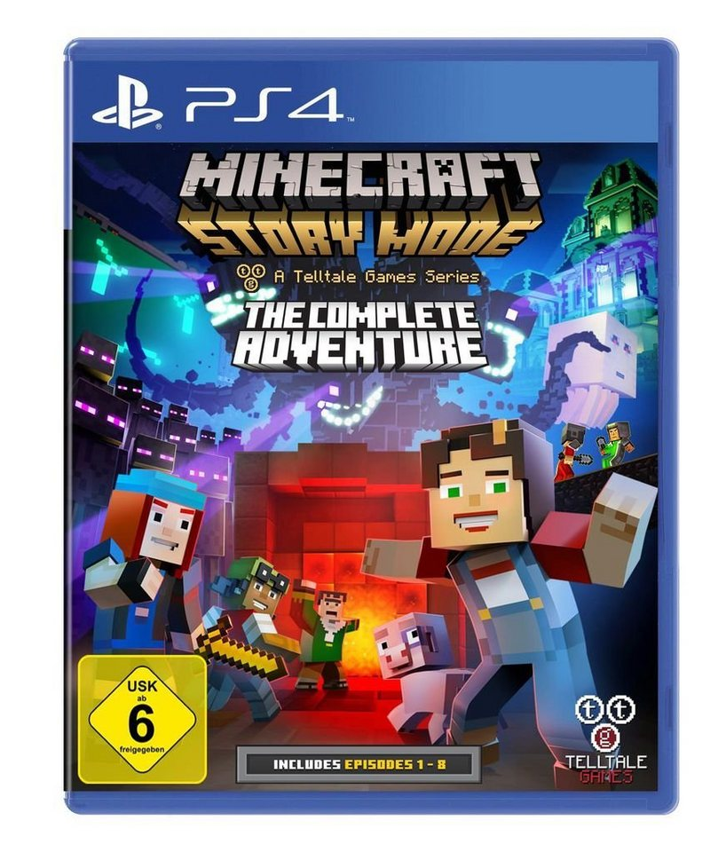 telltale games playstation 4 spiel minecraft story mode. Black Bedroom Furniture Sets. Home Design Ideas