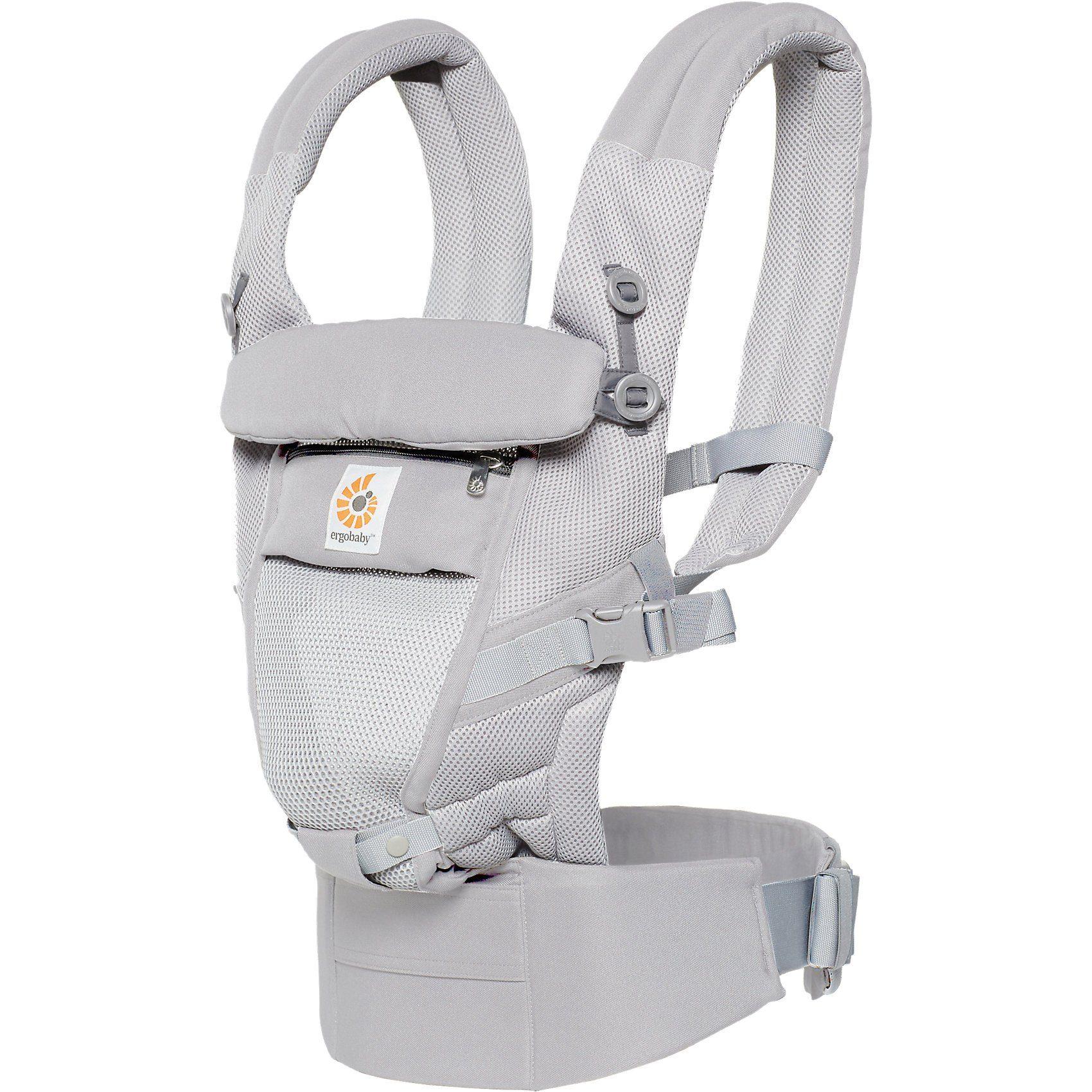 ERGObaby Babytrage Adapt, Cool Air Mesh, Pearl Grey