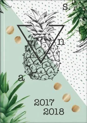 Gebundenes Buch »BRUNNEN Schülerkalender 2017/2018 Ananas wattiert«