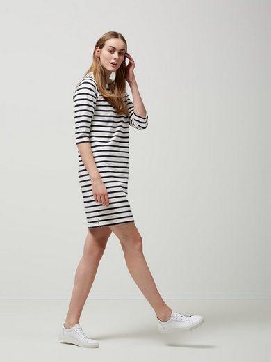 Selected Femme Gestreiftes Kleid mit 3/4 Ärmeln