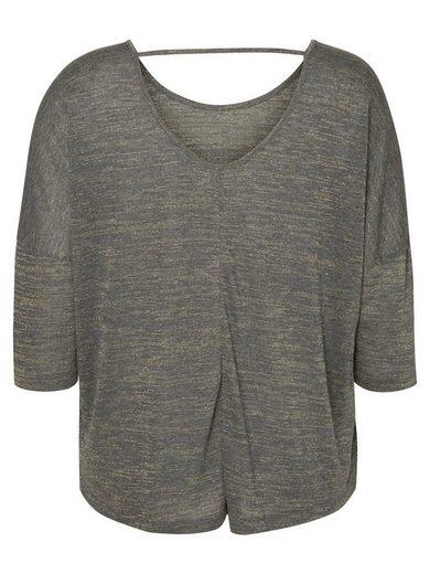 JUNAROSE 3/4-Ärmel-Bluse mit rückenfreiem Detail
