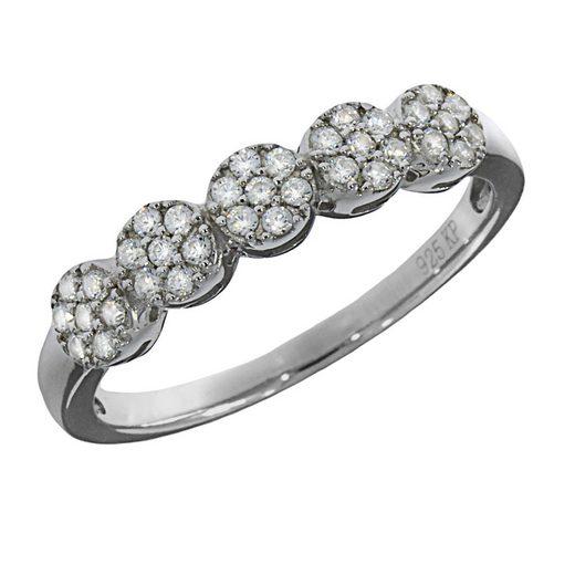 Vivance Ring »925/- Sterling Silber rhodiniert 35x Zirkonia«
