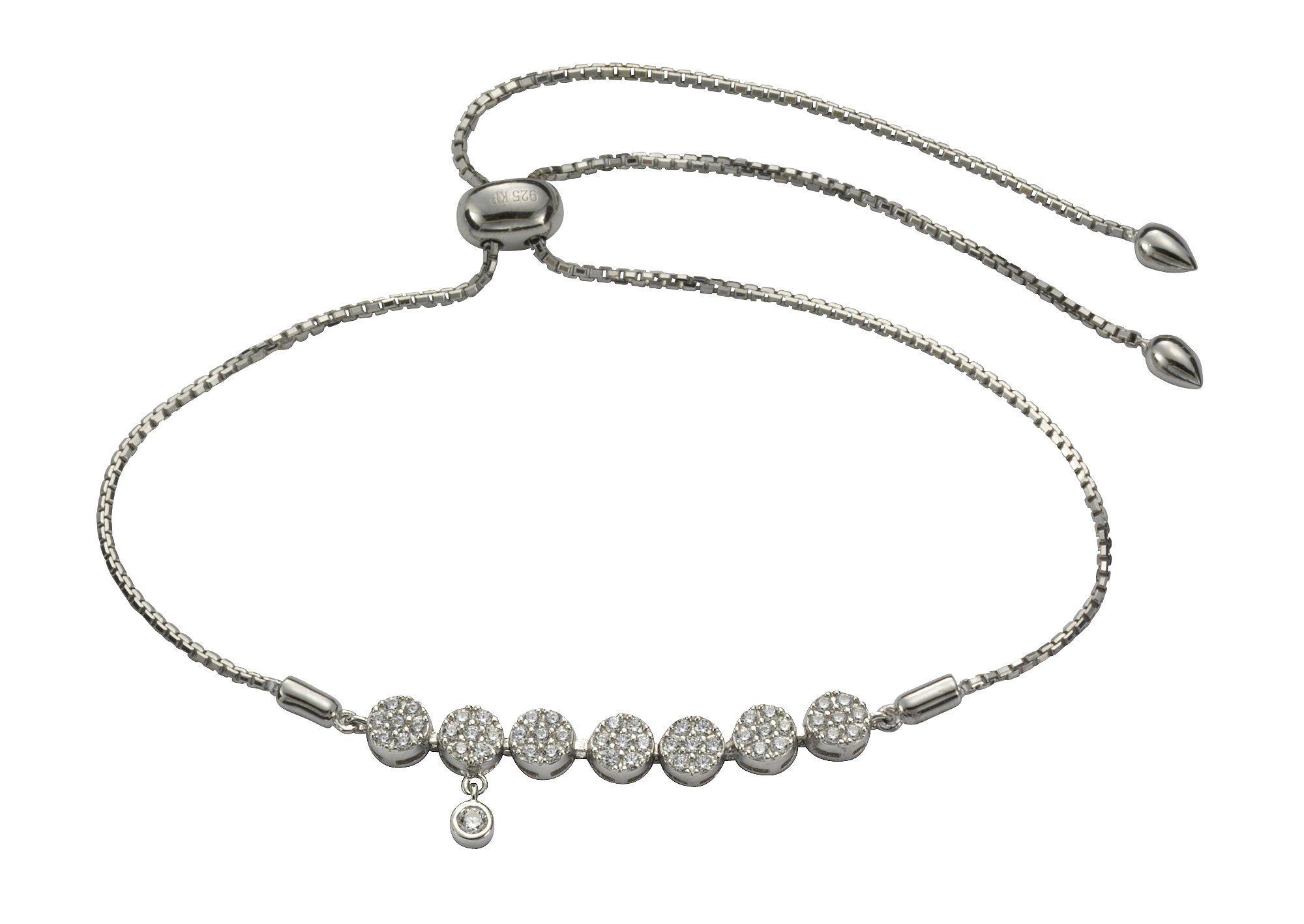 Firetti Armband »925/- Sterling Silber rhodiniert 50x Zirkonia«
