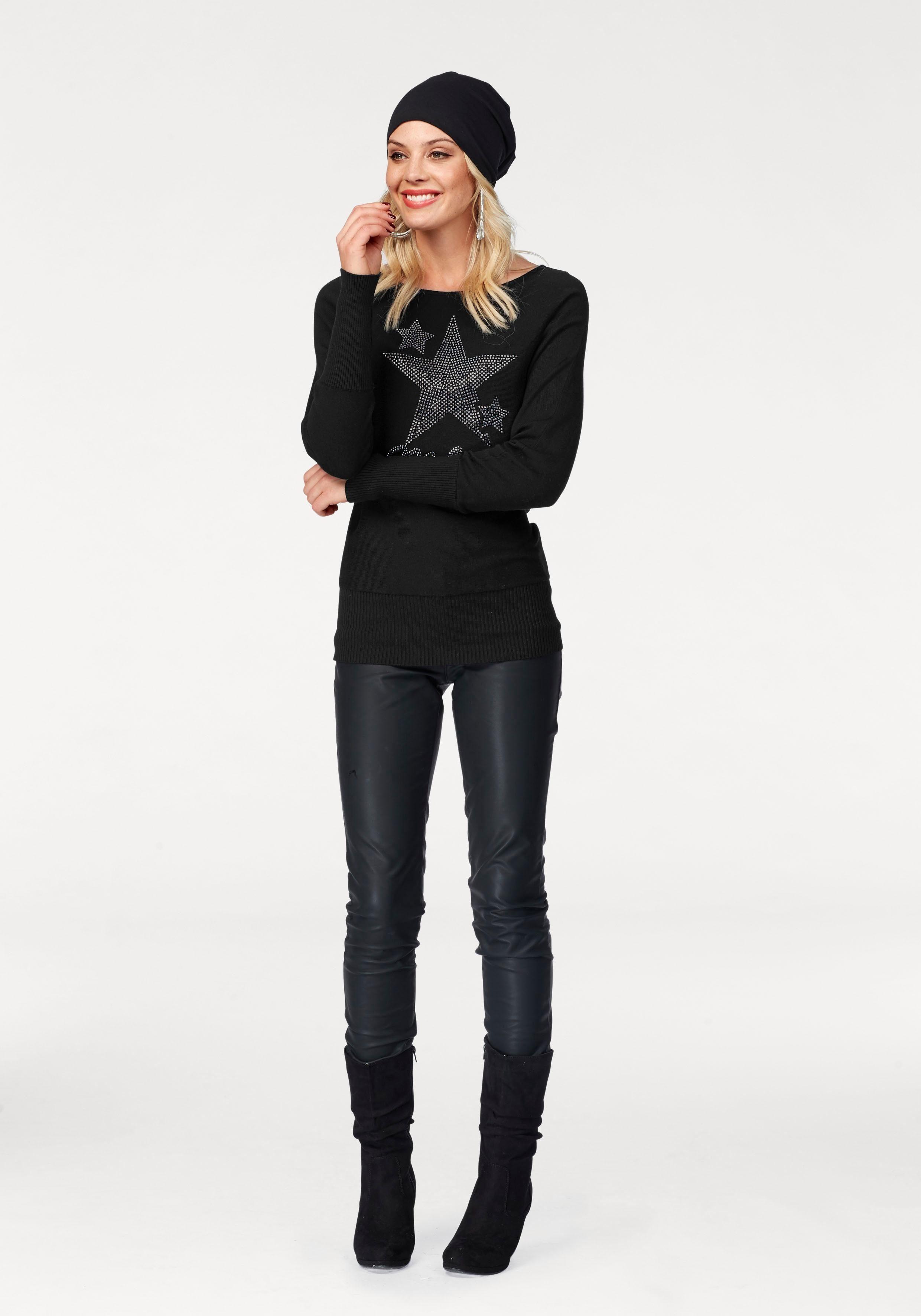 Arizona Stiefel, mit Raffungen am Schaft kaufen  schwarz