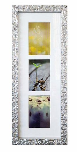 Home affaire Galerierahmen »Melbourne«, Fotorahmen für 3 oder 7 Bilder, silberfarben, Bildformat 10x15 cm