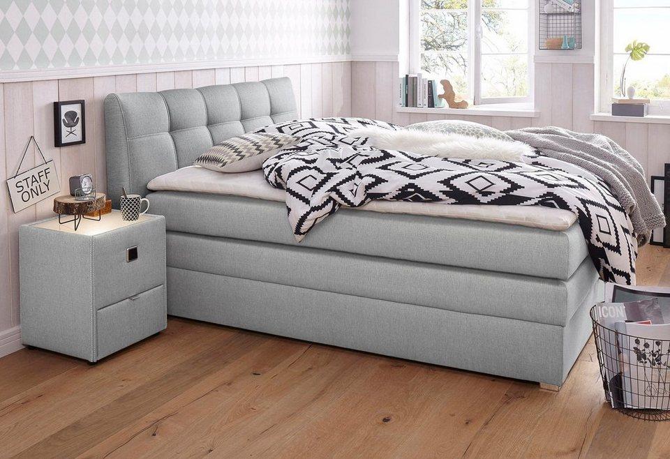 boxspringbett mit bettkasten und topper kaufen otto. Black Bedroom Furniture Sets. Home Design Ideas