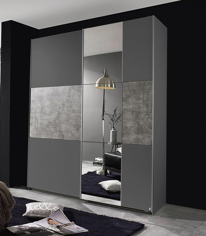rauch pack s schwebet renschrank mit spiegel otto. Black Bedroom Furniture Sets. Home Design Ideas