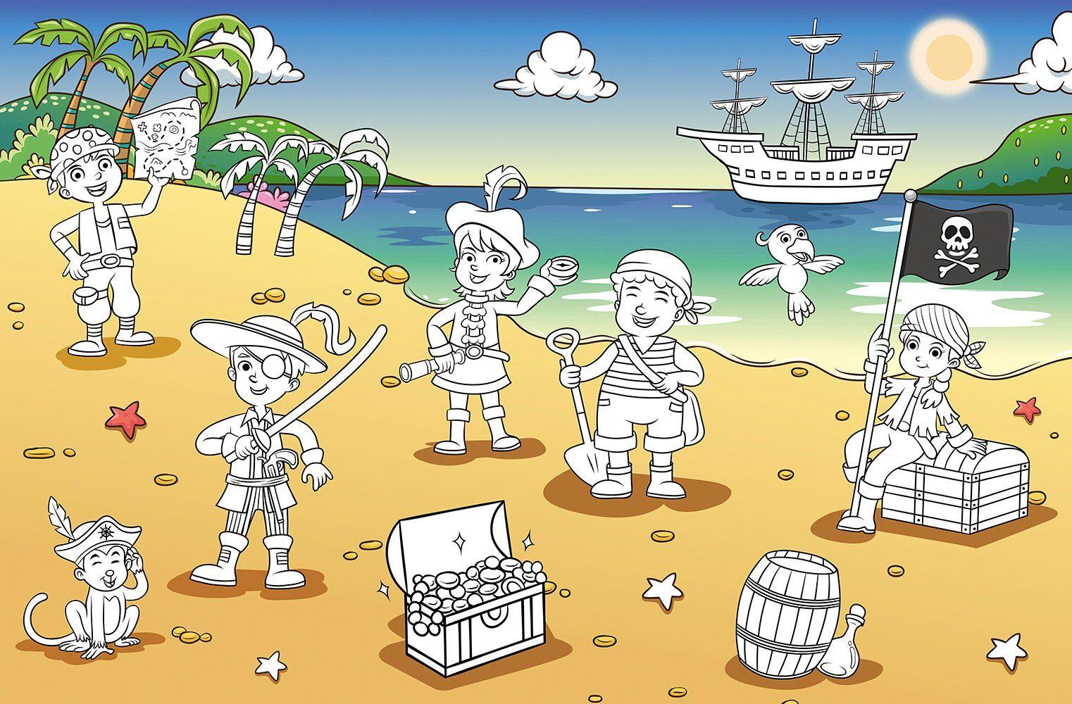 IDEALDECOR XXL Poster »Giant Art - Pirate Bay«