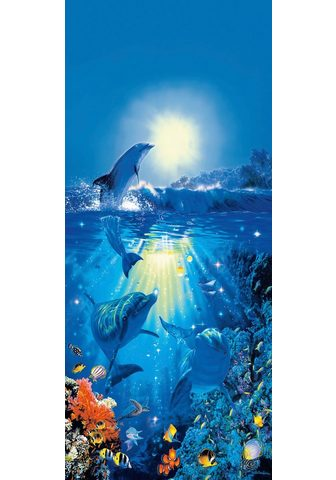 IDEALDECOR Durų tapetas »Dolphin in the Sun« 2 vn...
