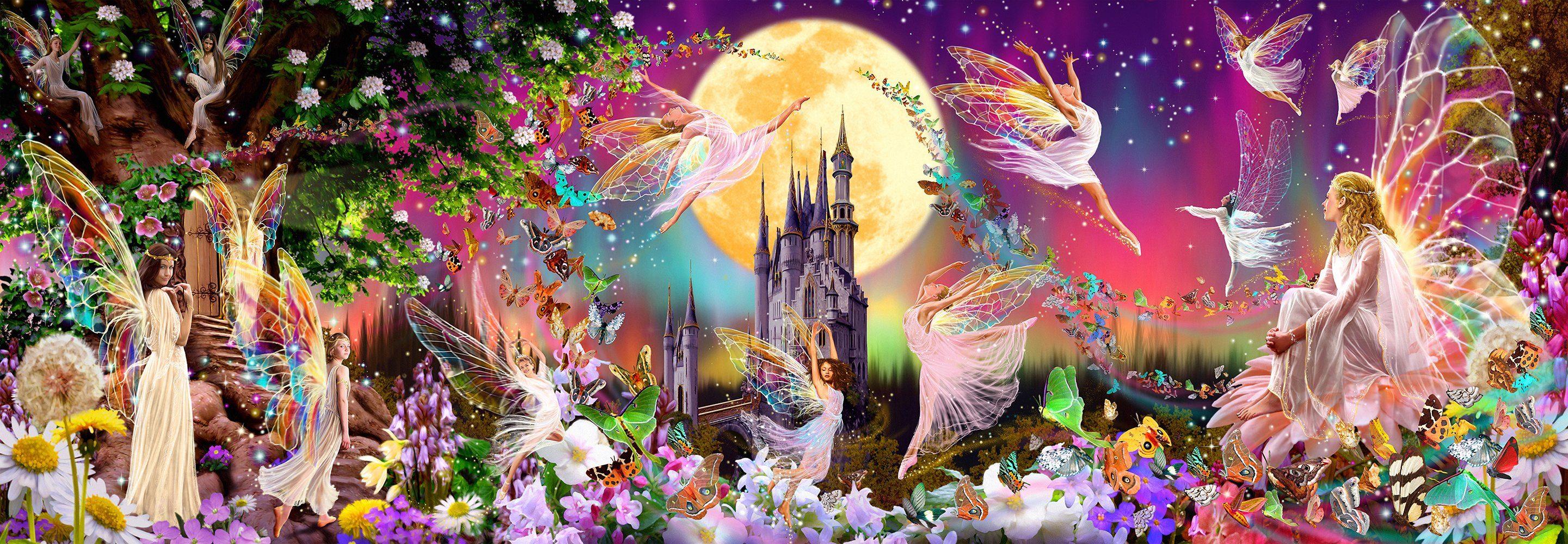 IDEALDECOR Fototapete »Fairyland«, 4-teilig, 366x127 cm