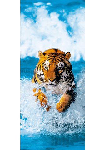 IDEALDECOR Durų tapetas »Bengal Tiger« 2 vnt. rin...