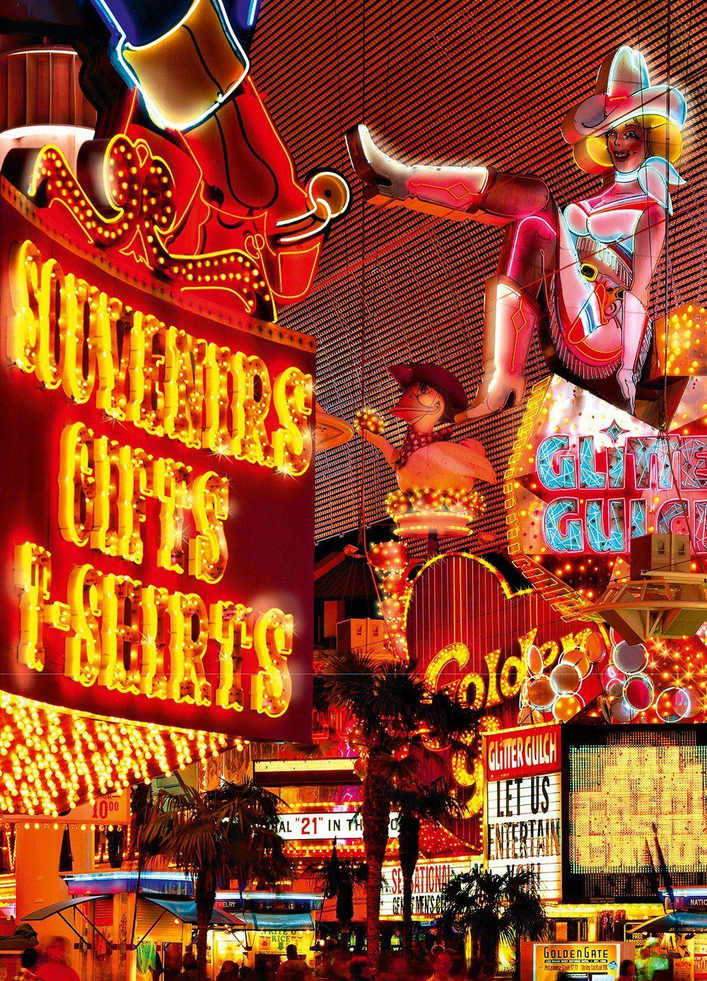 IDEALDECOR Fototapete »Downtown Las Vegas«, 4-teilig, 183x254 cm