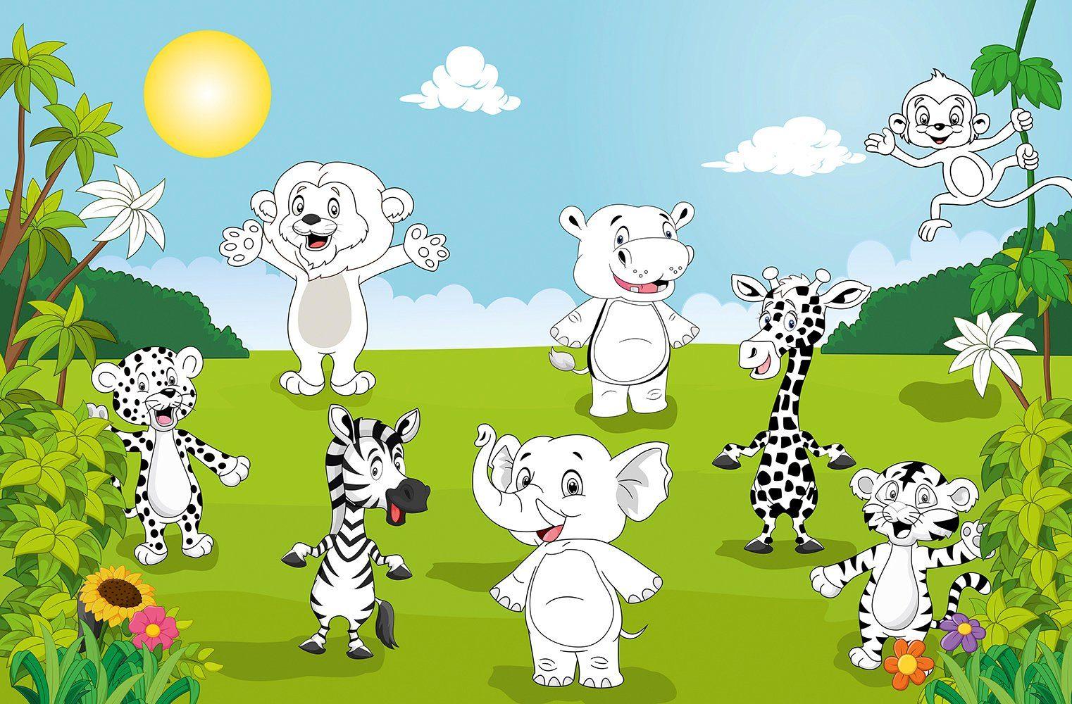 IDEALDECOR XXL Poster »Giant Art - Happy Animals«
