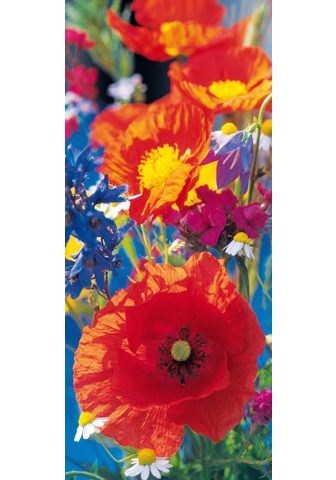 IDEALDECOR Durų tapetas »Red Poppies« 2 vnt. rink...