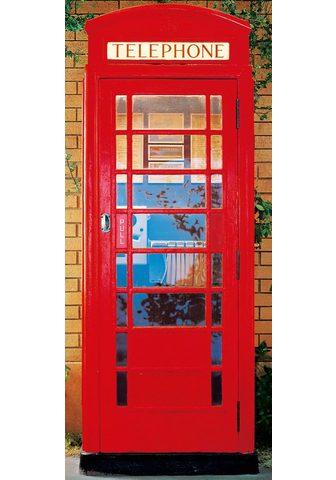 IDEALDECOR Durų tapetas » Telephone Box« 2 vnt. r...