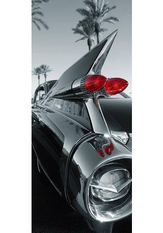 IDEALDECOR Durų tapetas »Classic Car« 2 vnt. rink...