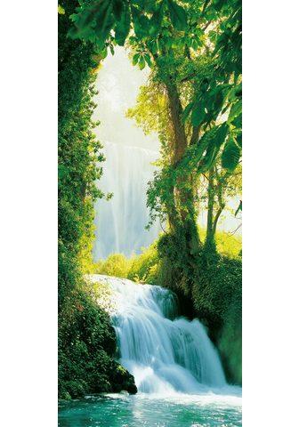 IDEALDECOR Durų tapetas »Zaragoza Falls« 2 vnt. r...