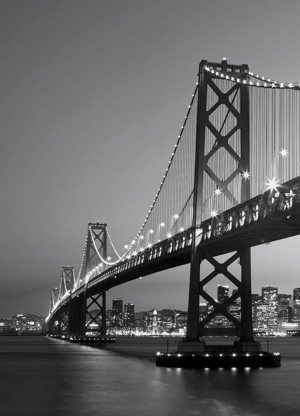 IDEALDECOR Fototapete »San Francisco Skyline«, 4-teilig, 183x254 cm