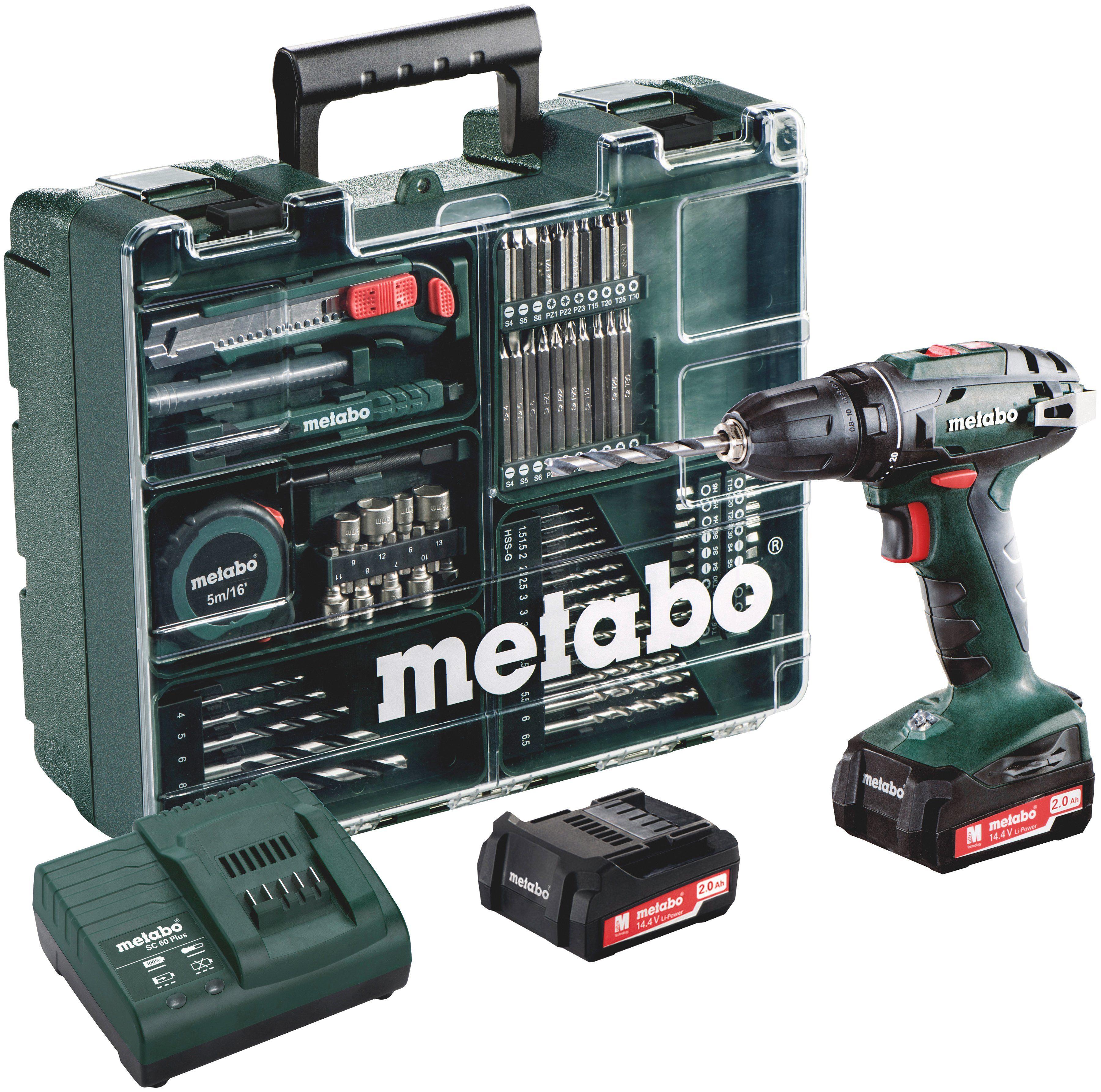 """METABO Set: Akkubohrschrauber »BS 14,4 Li« inkl. """"Mobile Werkstatt"""""""