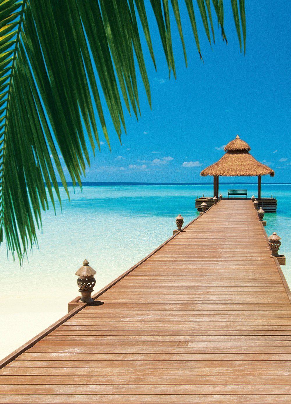Fototapete »Paradise Beach«, 4-teilig, 183x254 cm