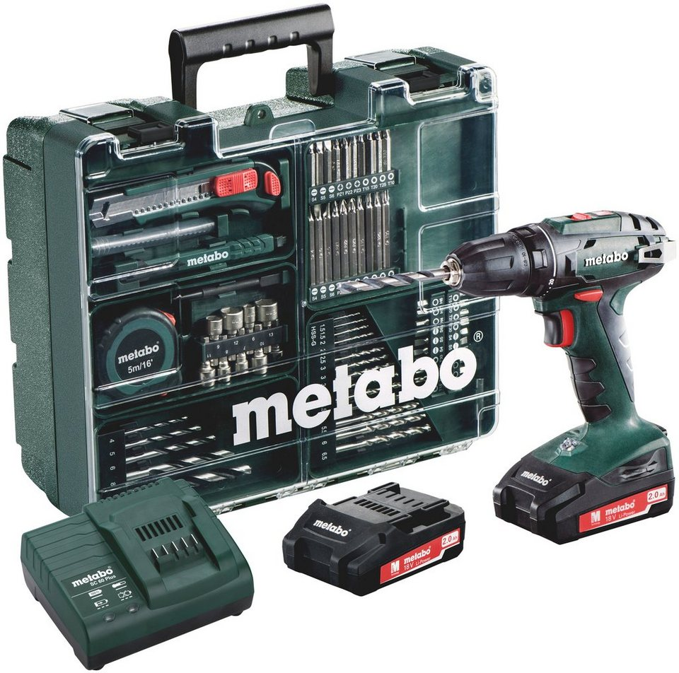 metabo set akkubohrschrauber bs 18 inkl mobile werkstatt online kaufen otto. Black Bedroom Furniture Sets. Home Design Ideas
