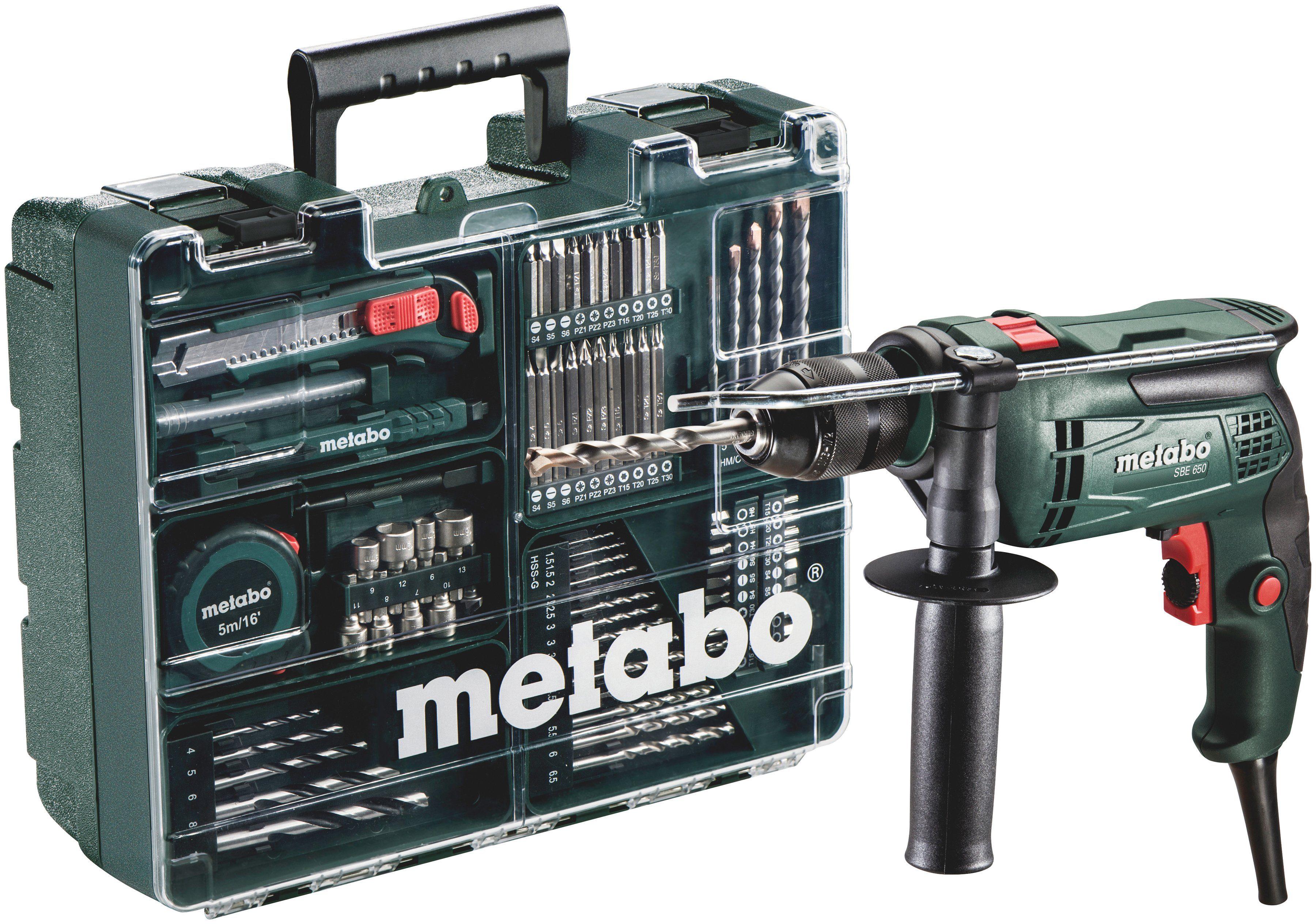 METABO Set: Schlagbohrmaschine »SBE 650« inkl. »Mobile Werkstatt«