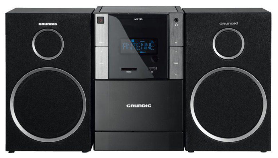 Grundig Design Micro-Anlage, RDS Tuner, MP3 Wiedergabe »MS 240«