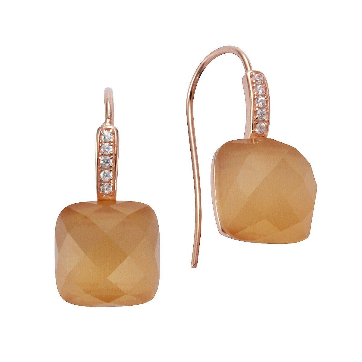 CELESTA Ohrhänger »925/- Sterling Silber rosévergoldet«