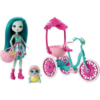 MattelR Enchantimals Puppe Taylee Turtle Und Fahrrad