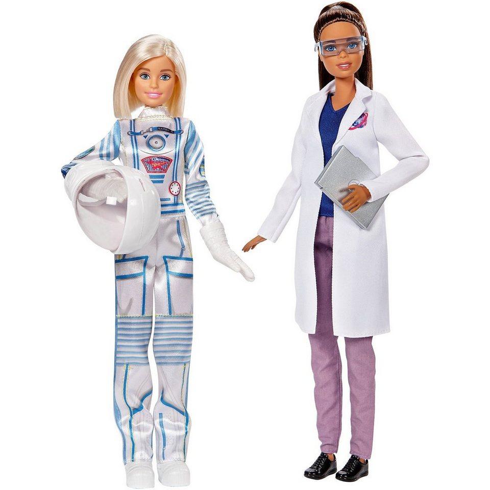 Mattel® Barbie 2er Set Karriere-Puppen: Astronautin und Weltraumfors online kaufen