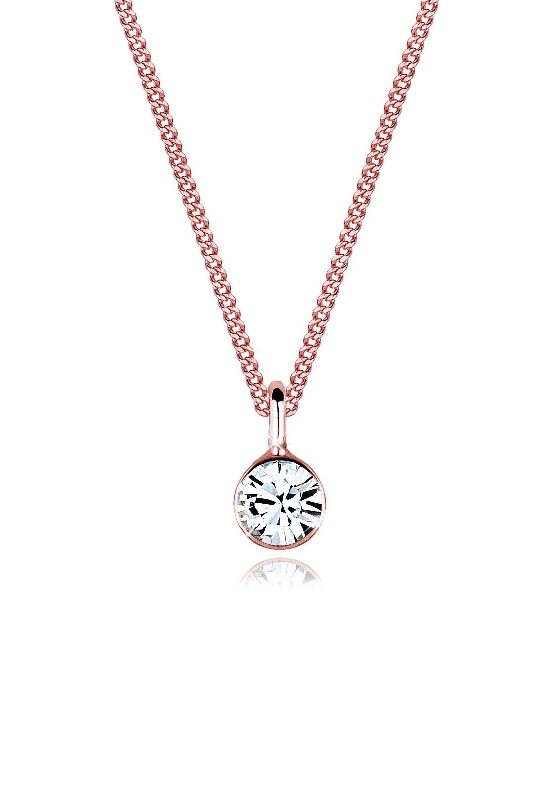 Elli Halskette »Solitär Swarovski® Kristalle 925 Sterling Silber«