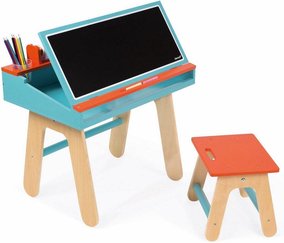 janod kinderschreibtisch mit tafel schreibtisch kombination blau online kaufen otto. Black Bedroom Furniture Sets. Home Design Ideas
