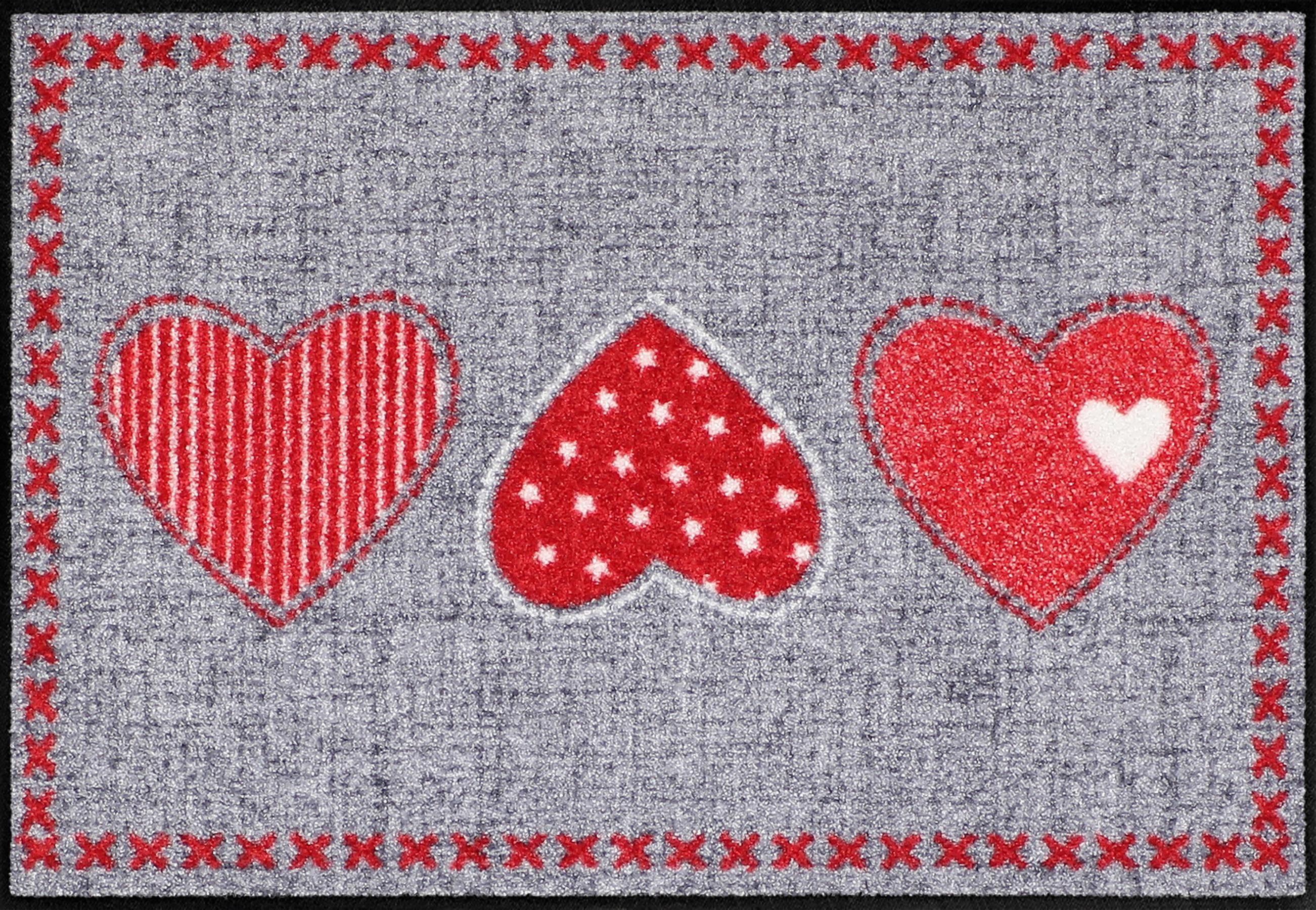 Fußmatte »Heart Application«, Salonloewe, rechteckig, Höhe 6 mm, In- und Outdoor geeignet