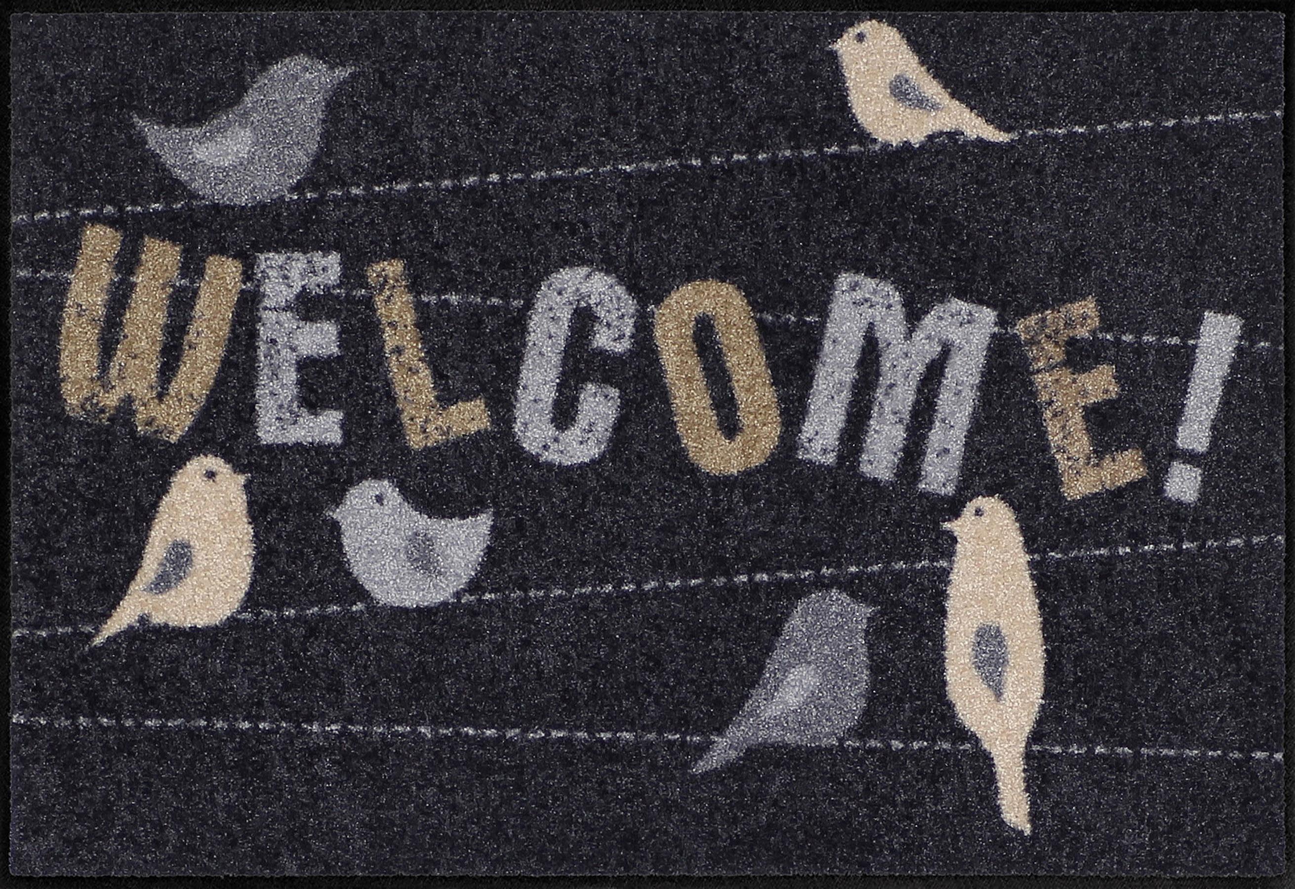 Fußmatte »Welcome Birds«, Salonloewe, rechteckig, Höhe 6 mm, In- und Outdoor geeignet