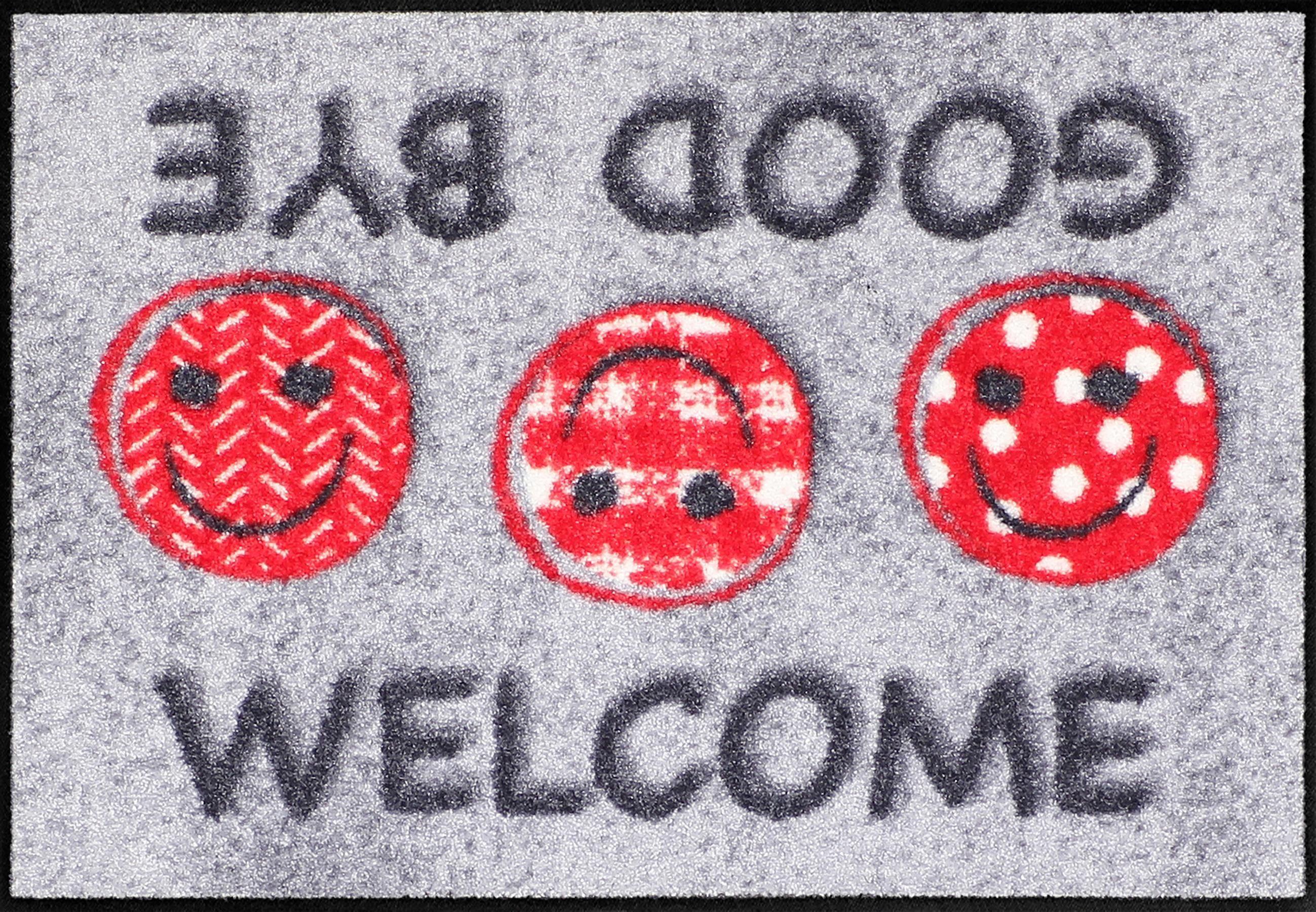 Fußmatte »Welcome Good-Bye«, Salonloewe, rechteckig, Höhe 6 mm