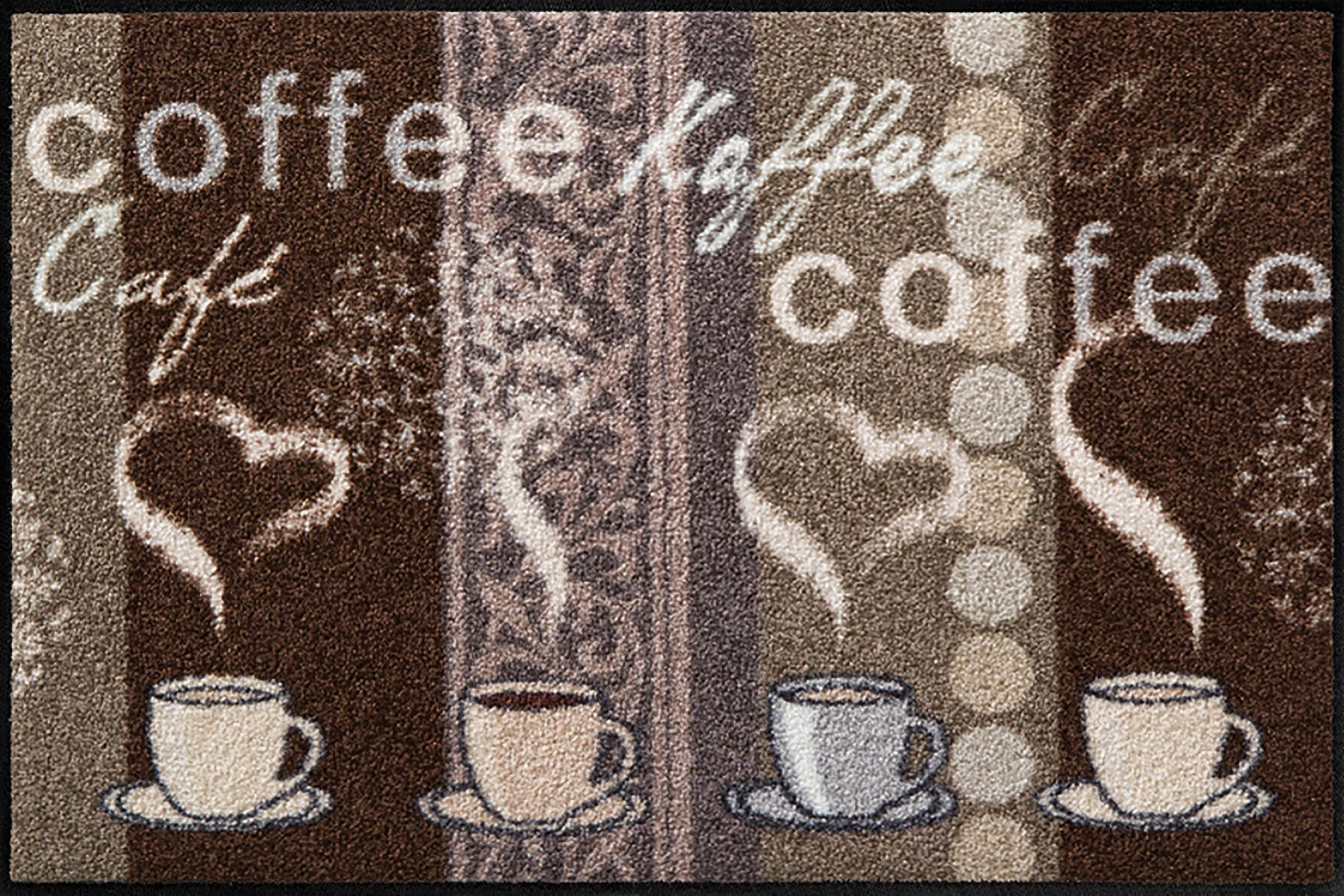 Fußmatte »Kaffeehaus«, Salonloewe, rechteckig, Höhe 6 mm