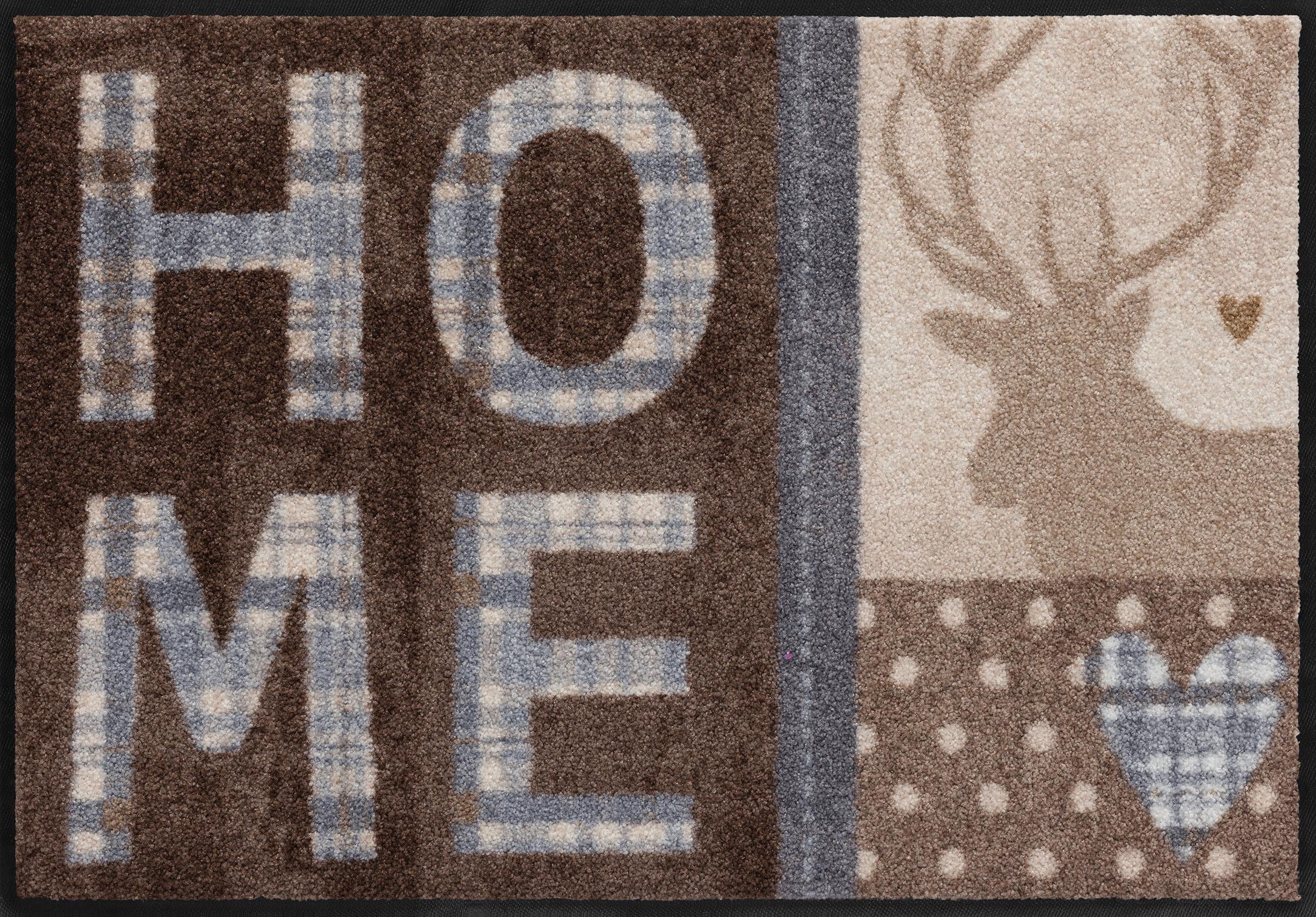 Fußmatte »Hirsch mit Herz«, Salonloewe, rechteckig, Höhe 6 mm