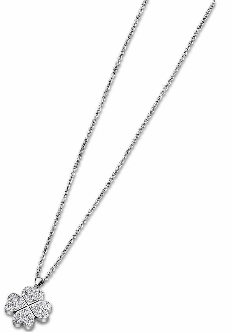 Lotus Style Kette mit Anhänger »Kleeblatt, Rainbow, LS1785-1/1« mit Glassteinen