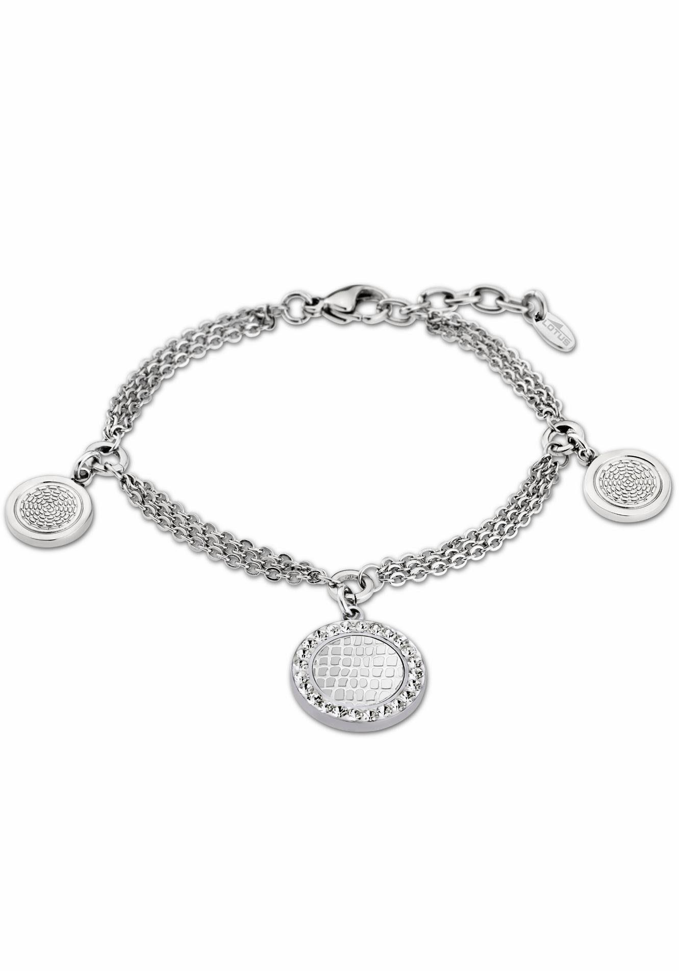 Lotus Style Edelstahlarmband »Privilege, LS1778-2/1« mit Glassteinen